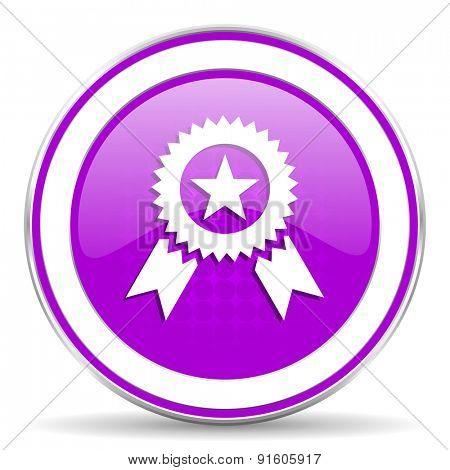 award violet icon prize sign
