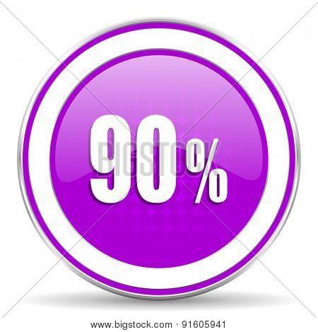 90 percent violet icon sale sign