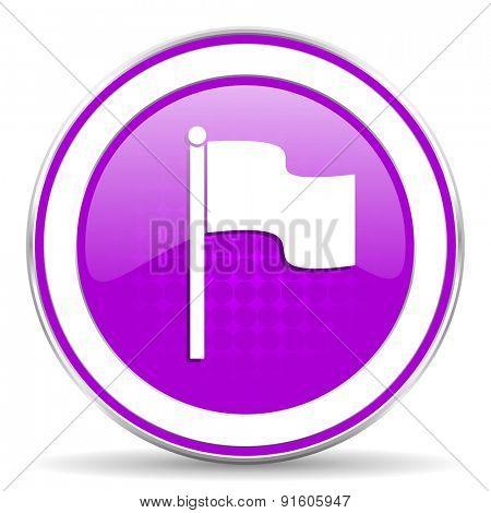 flag violet icon