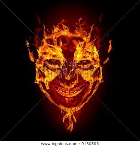 Fire Devil Face