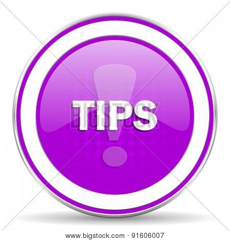 tips violet icon