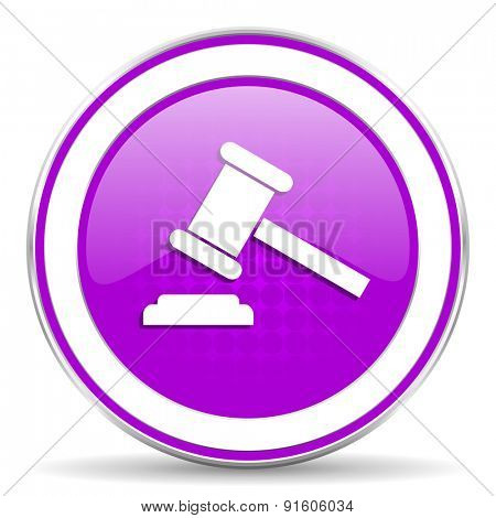 auction violet icon court sign verdict symbol