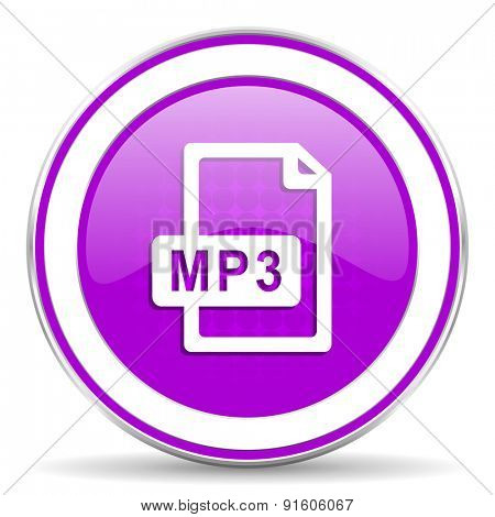mp3 file violet icon