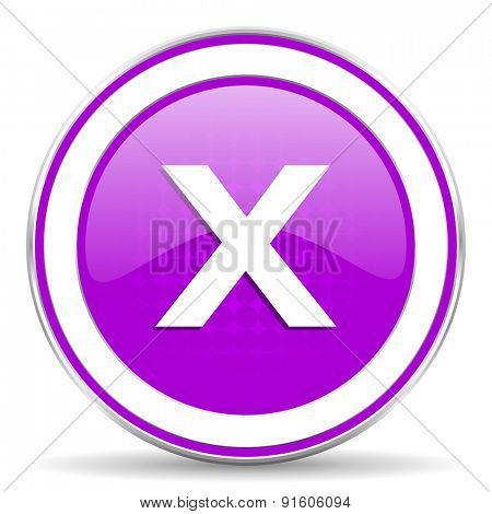 cancel violet icon