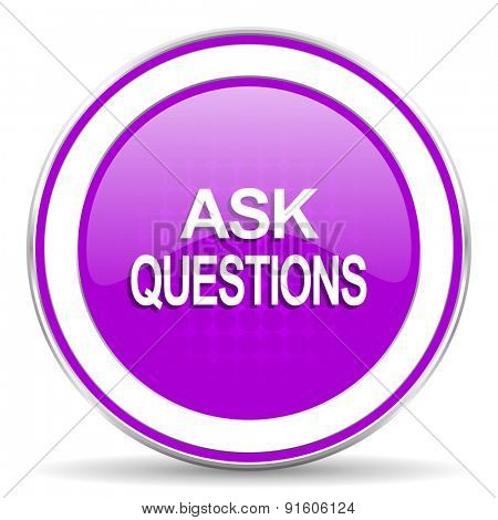 ask questions violet icon