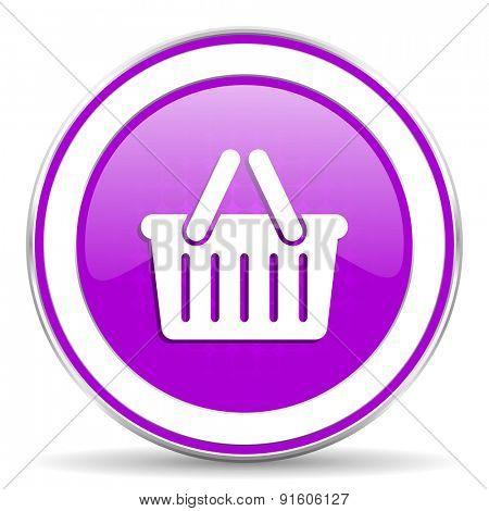 cart violet icon shopping cart symbol