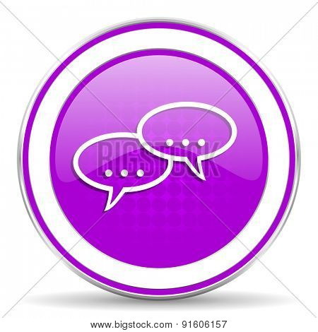 forum violet icon chat symbol bubble sign
