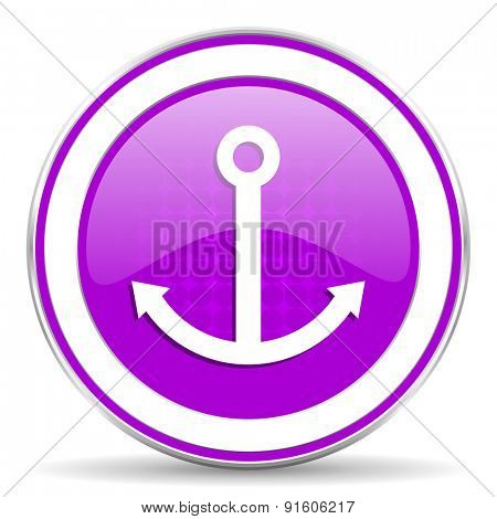 anchor violet icon sail sign
