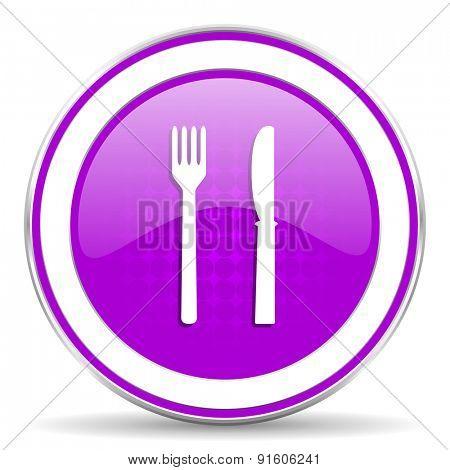 eat violet icon restaurant sign