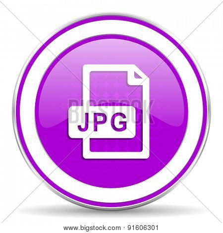 jpg file violet icon