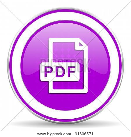 pdf file violet icon