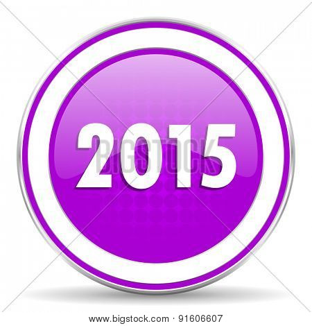 new year 2015 violet icon new years symbol