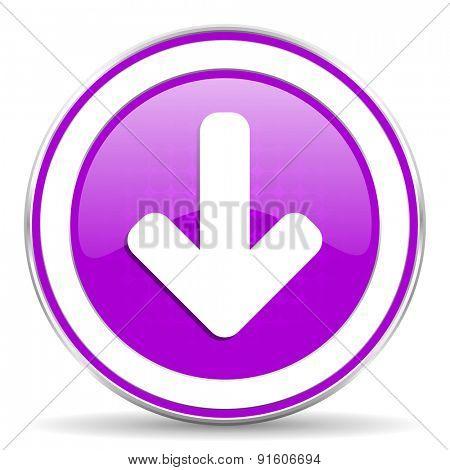 download arrow violet icon arrow sign