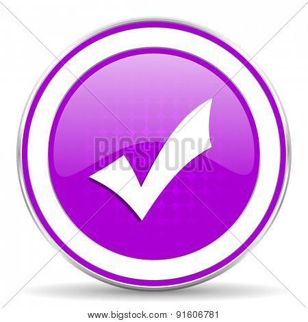 accept violet icon check sign
