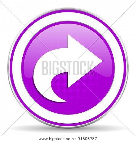 next violet icon arrow sign