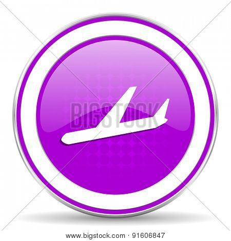arrivals violet icon plane sign