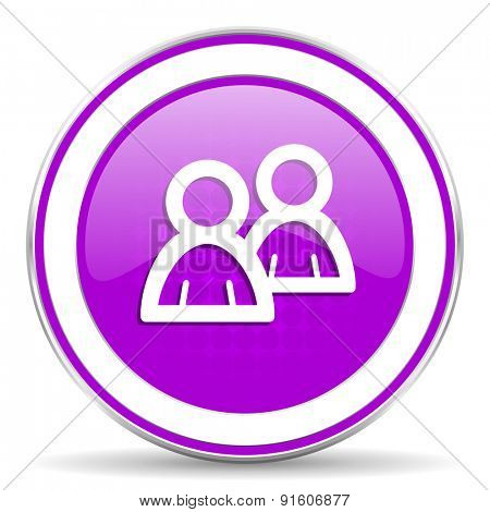 forum violet icon people sign