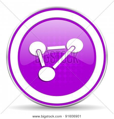 chemistry violet icon molecule sign