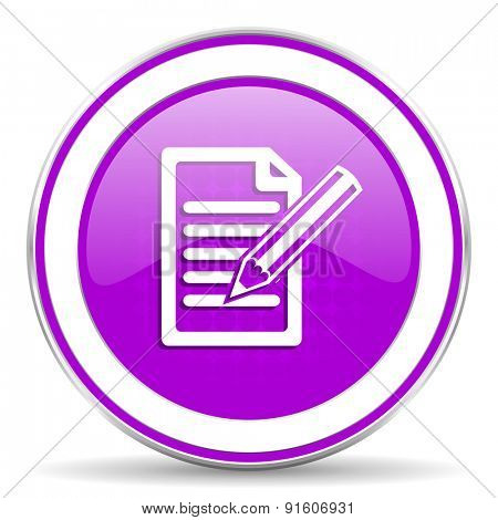 subscribe violet icon write sign