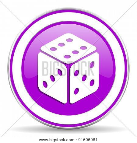 casino violet icon hazard sign