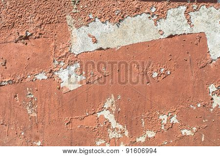 chipped paint on old concrete wall texture background