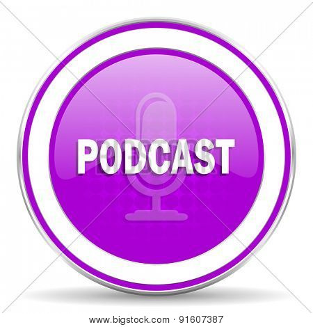 podcast violet icon