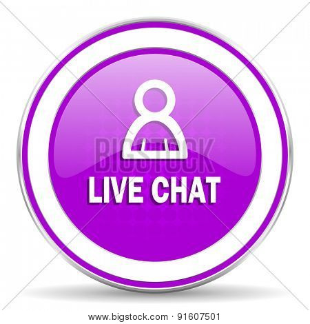 live chat violet icon