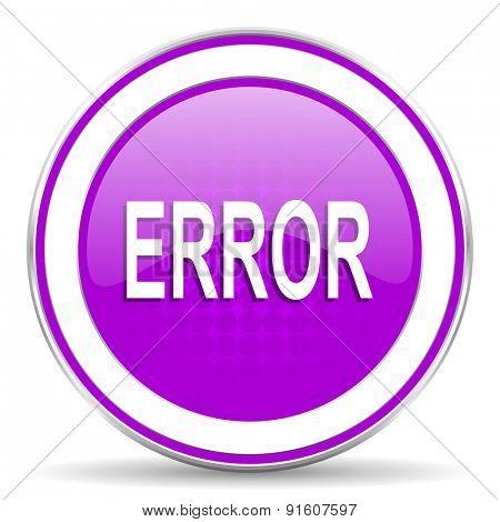 error violet icon