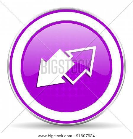 exchange violet icon