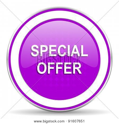 special offer violet icon