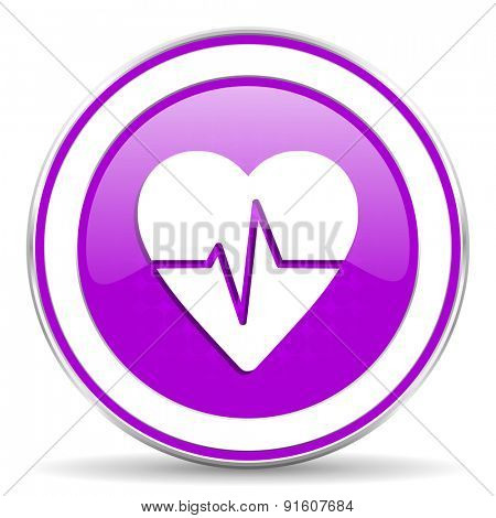 pulse violet icon heart rate sign