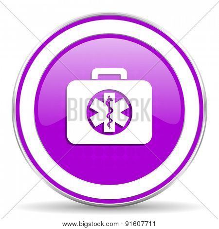 rescue kit violet icon emergency sign