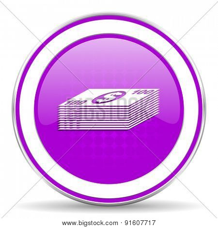 money violet icon cash symbol
