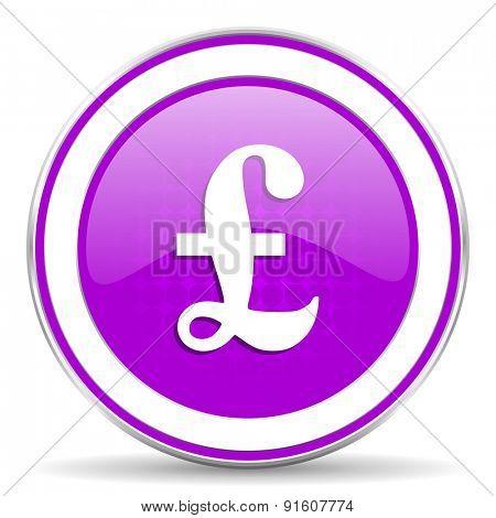 pound violet icon