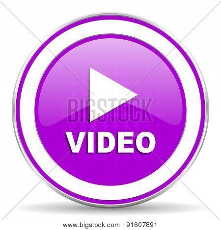 video violet icon