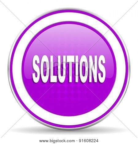 solutions violet icon