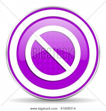 access denied violet icon