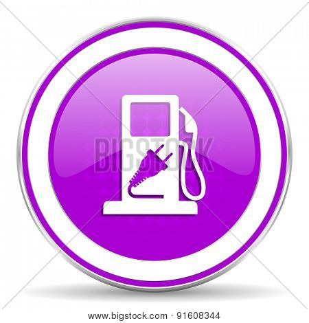 fuel violet icon hybrid fuel sign
