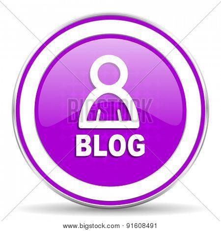 blog violet icon