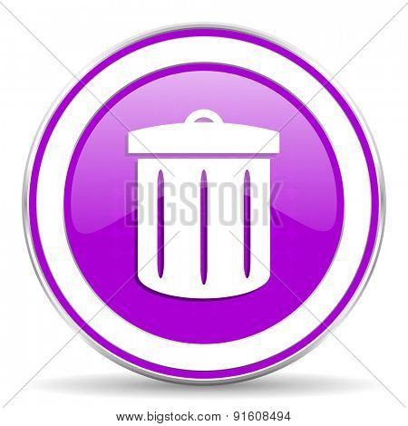 recycle violet icon recycle bin sign