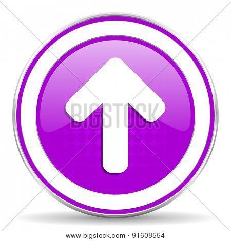 up arrow violet icon arrow sign