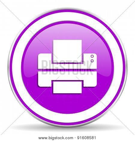 printer violet icon print sign