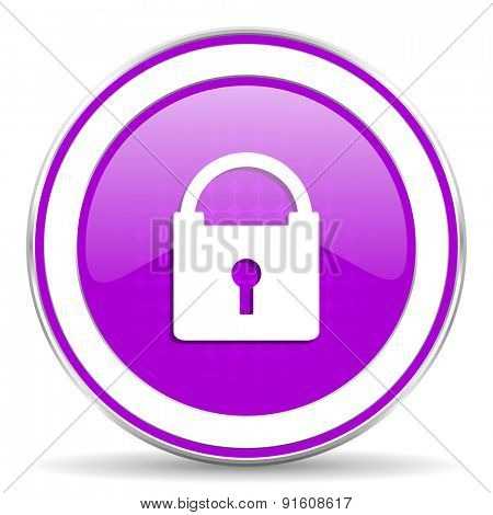 padlock violet icon secure sign