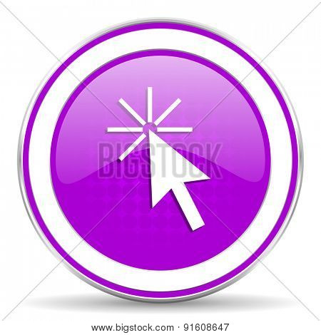 click here violet icon