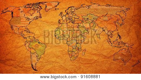 Portugal Territory On World Map