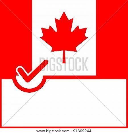 Voting Symbol Canada Flag