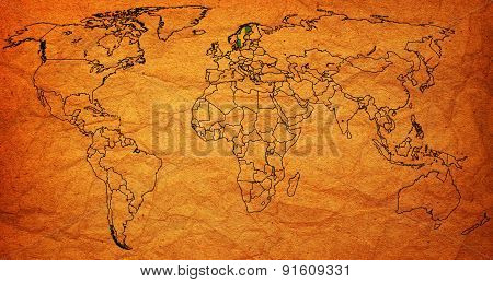 Sweden Territory On World Map