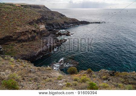Rocky Coastline Near Abama Beach, Tenerife, Spain