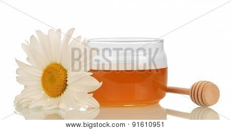 Honey with honey dipper