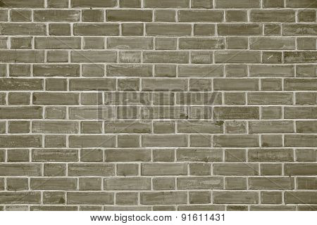 Stone Wall From A Brick Of Dirty Gray Color